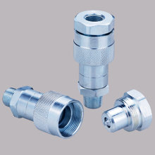 KZE-B hight pressure Thread Locked type hydraulic quick couplers (steel)