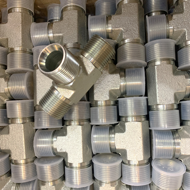 AB BSP MALE 60°SEAT TEE hydraulic hose fittings