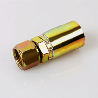 26711B JIC FEMALE 74°CONE SEAT SAE J514 carbon steel galvanized integrated hydraulic hose fitting